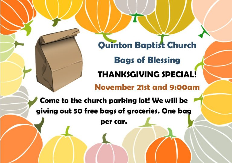 Bags of Blessing Thanksgiving